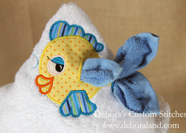 Machine Embroidery Deboras Custom Stitches Hooded Towels